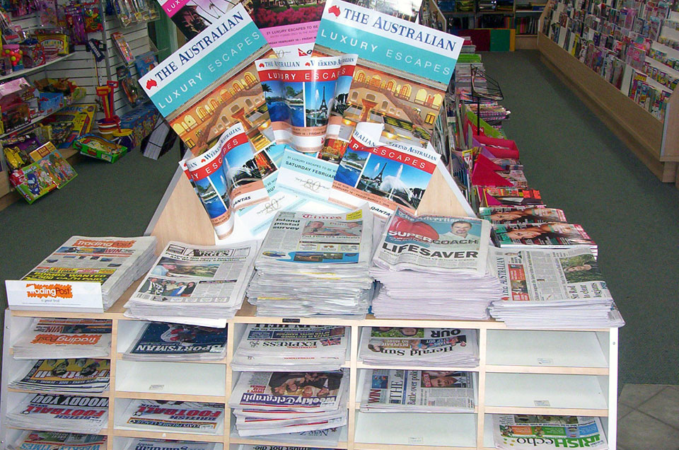 A talk with a friend who owns a newsagency